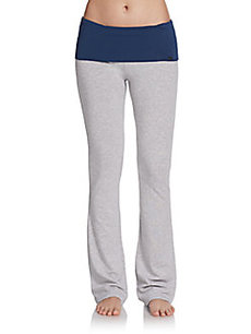 Steve Madden Stretch Cotton Fold-Over Pants