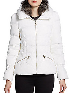 Andrew Marc Dylan Detachable Fur-Trimmed Quilted Down Jacket