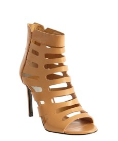 Dolce Vita carmel leather 'Hettie' cutout detail open toe booties