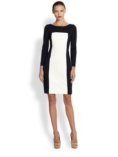 Akris Punto Two-Tone Jersey Dress