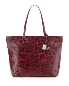 Furla D-Light Medium Shopper Bag, Burgundy