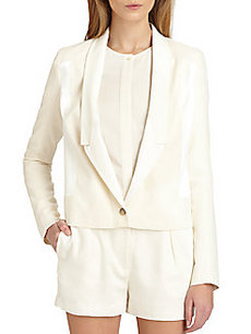 J Brand Ready-To-Wear Marion Leather-Trim Jacket