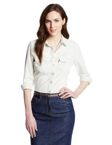 Levi's Women's Tailored Western Denim Shirt