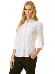 diamond eyelet shirt
