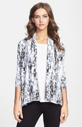 kensie 'Crackle Paint' Stretch Knit Jacket