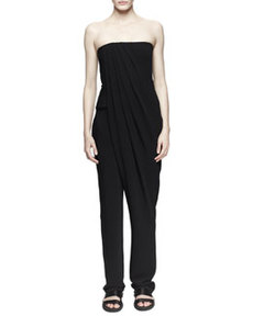 Strapless Pleat-Front Jumpsuit   Strapless Pleat-Front Jumpsuit
