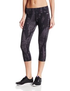 Calvin Klein Performance Women's Illuminate Print Capri with Back Shirring