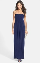 Laundry by Shelli Segal Pleated Matte Jersey Gown