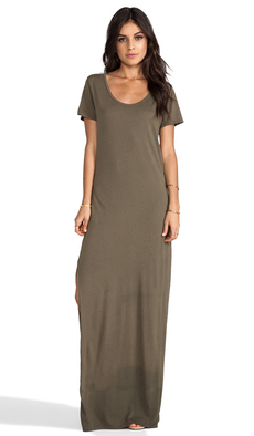 Michael Stars Tee Shirt Maxi Dress in Olive