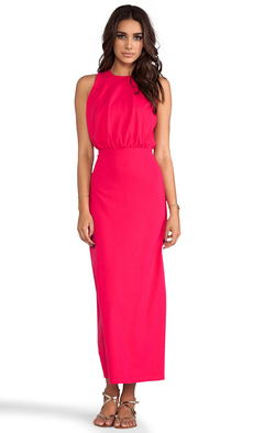 "Susana Monaco Madison Maxi 42"" Dress in Fuchsia"