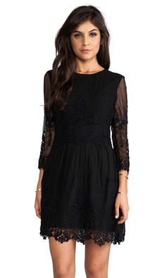 Dolce Vita Velentina Eyelet Dress in Black