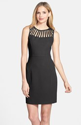 Laundry by Shelli Segal Cutout Stretch Crepe Sheath Dress