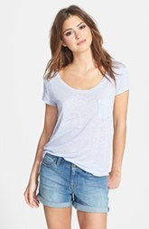 Three Dots Relaxed Linen Tee