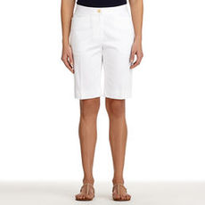 Stretch Cotton Bermuda Shorts (Plus)