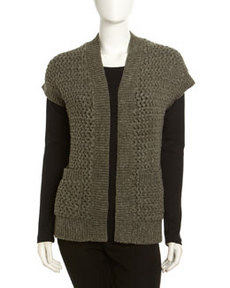 Lafayette 148 New York Cailey Chunky-Knit Sweater, Hunter Melange