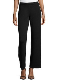 St. John Stove-Cut Santana-Knit Pants, Onyx