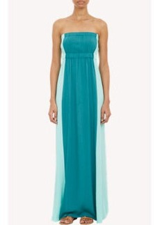 Twelfth Street by Cynthia Vincent Colorblock Strapless Maxi Dress