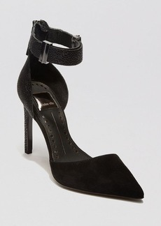 Dolce Vita Pointed Toe Pumps - Kana Ankle Strap High Heel