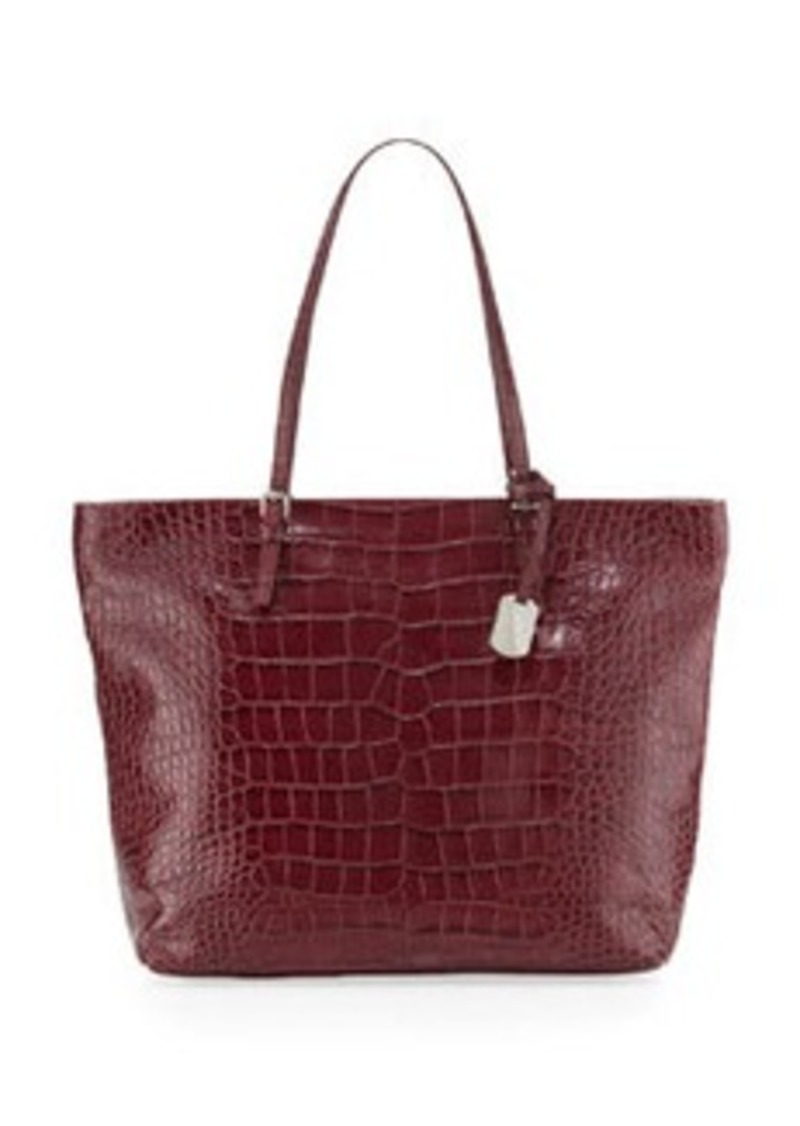 furla furla d light medium shopper bag burgundy handbags shop it to me. Black Bedroom Furniture Sets. Home Design Ideas