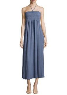 Joie Acadia Smocked Halter Maxi Dress, Vintage Indigo