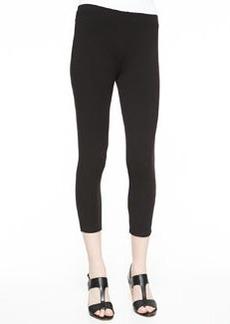 Joan Vass Cropped Leggings, Black