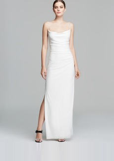 Laundry by Shelli Segal Gown - Sleeveless Ruched Slip