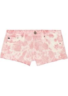 AG Jeans Daisy tie-dyed cut-off stretch-denim shorts