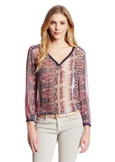 Lucky Brand Women's Concord Paisley Top