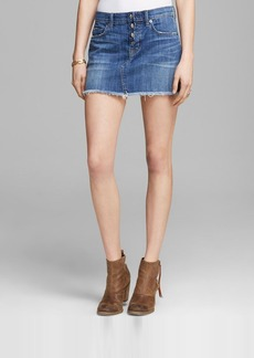 Hudson Mini Skirt - Anya Denim in Turn the Tides