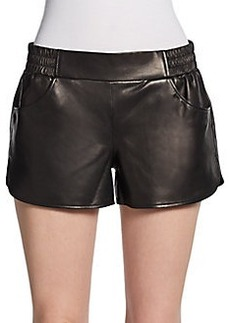 Twelfth Street by Cynthia Vincent Leather Gym Shorts