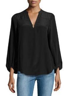 Diane von Furstenberg Tanyana Clean Silk Top, Black