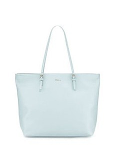 Furla D-Light Leather Medium Tote, Light Blue (Rugiada)
