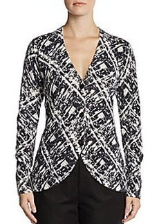 Lafayette 148 New York Printed Cashmere Cardigan