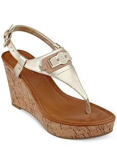 Tommy Hilfiger Women's Monor Platform Wedge Thong Sandals