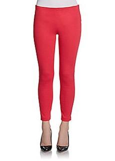 J Brand Side-Zip Mid-Rise Skinny Capri Jeans