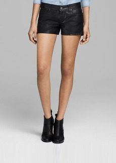 Paige Denim Shorts - Makayla Coated in Black