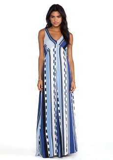 Ella Moss Surfer Stripe Maxi Dress in Blue