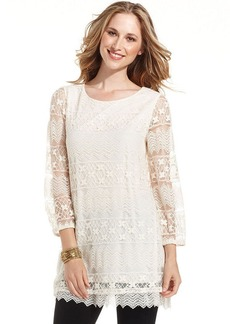 Style&co. Three-Quarter-Sleeve Lace Tunic