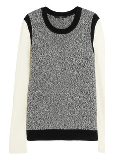 Tibi Contrast-sleeve knitted sweater