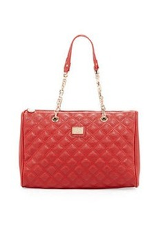 Christian Lacroix Lucile Quilted Faux Leather Duffel Bag, Red