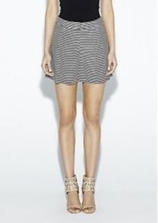 Striped Satin Shorts