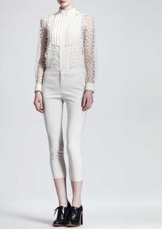 Chloe Cropped Stretch-Wool Skinny Pants