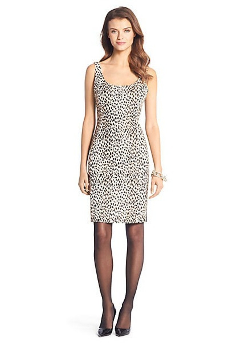 Arianna Leopard Woven Scoopneck Dress