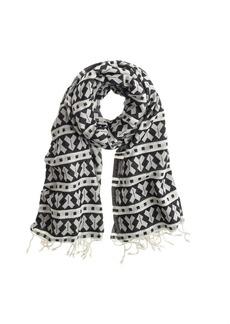 Geo-print scarf
