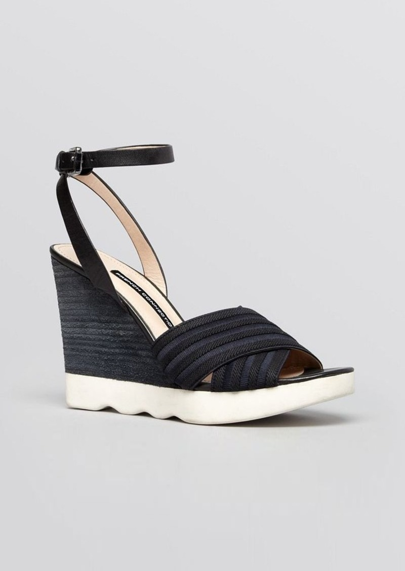 FRENCH CONNECTION Platform Wedge Ankle Strap Sandals - Jane