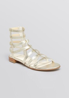 Stuart Weitzman Flat Gladiator Sandals - Caesar