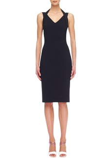 Michael Kors Crepe Fitted Halter Dress