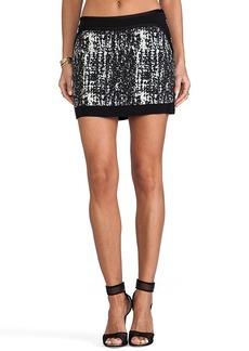 Diane von Furstenberg Chloette Maze Skirt in Black