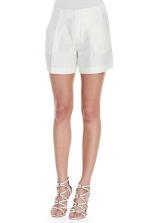 J Brand Ready to Wear Underhill Pleated Shimmery Shantung Shorts