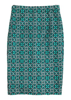 No. 2 pencil skirt in lattice medallion